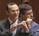 Musicos inseparables comparten flauta