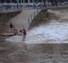 Imprudencia en la playa del Sardinero