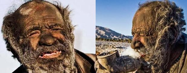 Amoo Hadji, 60 años sin bañarse