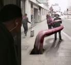 Impactante anuncio en plena calle