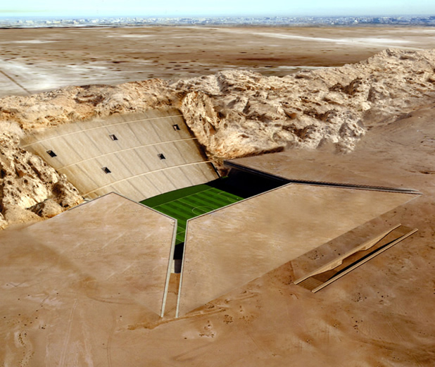 El impresionante Rock Stadium de Qatar 2022