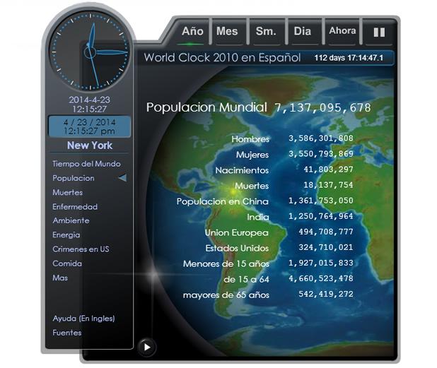 Datos del mundo en tiempo real