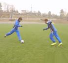 Japoneses imitando un tiro de Supercampeones