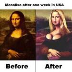 Mona Lisa tras 1 semana en Nueva York
