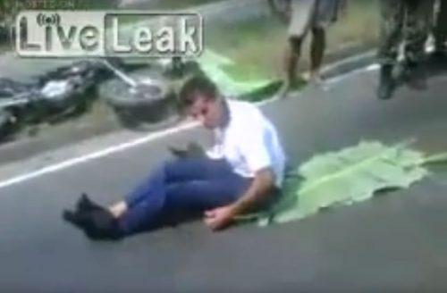 Víctima de accidente se vuelve loco